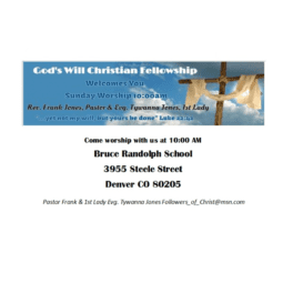 God's Will Christian Fellowship (GWCF)